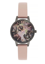Olivia Burton Twilight Midi Dial Mother Of Pearl Watch - Grey, Pink & Gunmetal