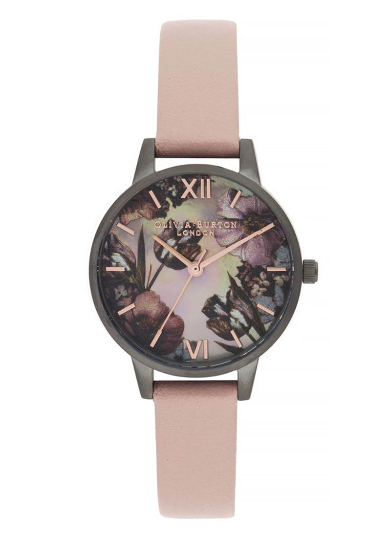 Olivia Burton Twilight Midi Dial Mother Of Pearl Watch - Grey, Pink & Gunmetal main image