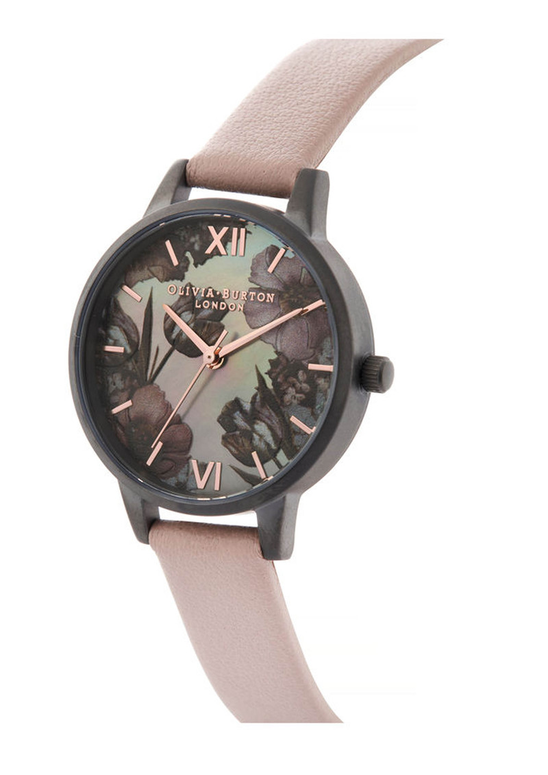 Twilight Midi Dial Mother Of Pearl Watch - Grey, Pink & Gunmetal main image