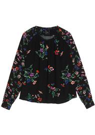 IDANO Topinambour Floral Top - Black