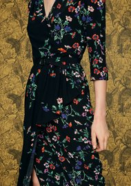 IDANO Tamarin Floral Dress - Black