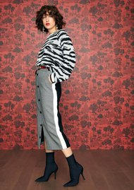 IDANO Poire Tiger Sweater - Ecru
