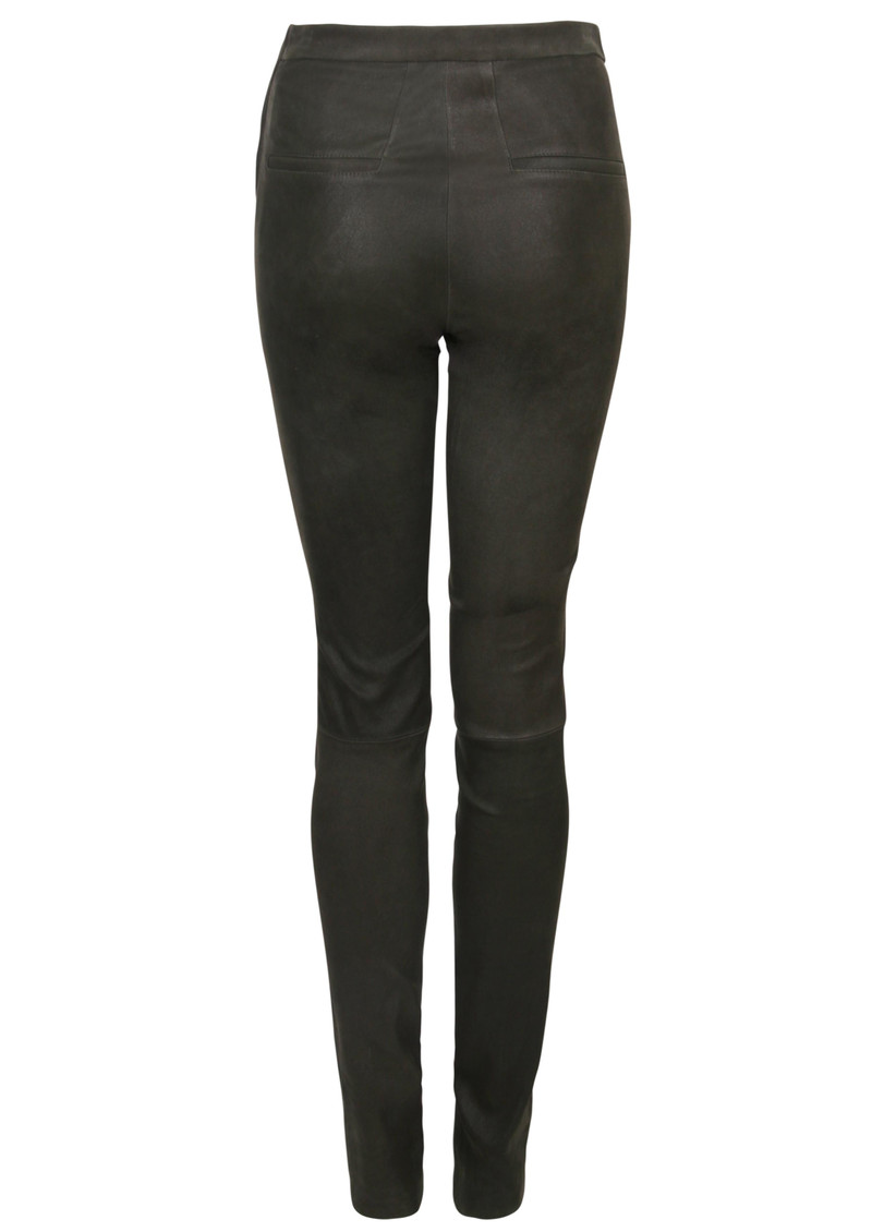 DANTE 6 Dolmann Crackle Leather Leggings - Raven main image