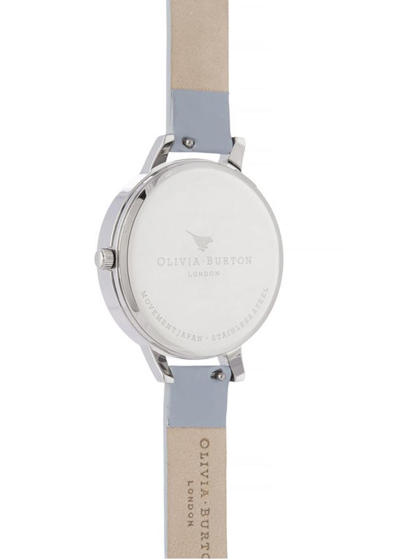 Olivia Burton Enchanted Garden Demi Dial Watch - Chalk Blue & Silver main image