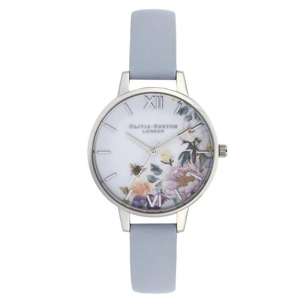 Enchanted Garden Demi Dial Watch - Chalk Blue & Silver