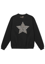 ON THE RISE Leopard Star Jumper - Black