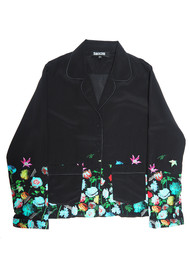 ROCKINS Pyjama Silk Top - Flora 2