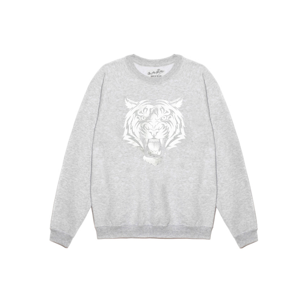 Tiger Sweatshirt - Grey & Silver