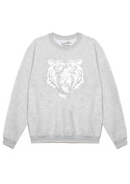 ON THE RISE Tiger Sweatshirt - Grey & Silver