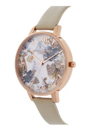 Olivia Burton Marble Florals Big Dial Watch - Sand & Rose Gold