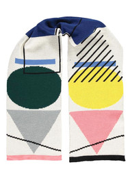 MISS POM POM Shapes Scarf - Cream & Multi