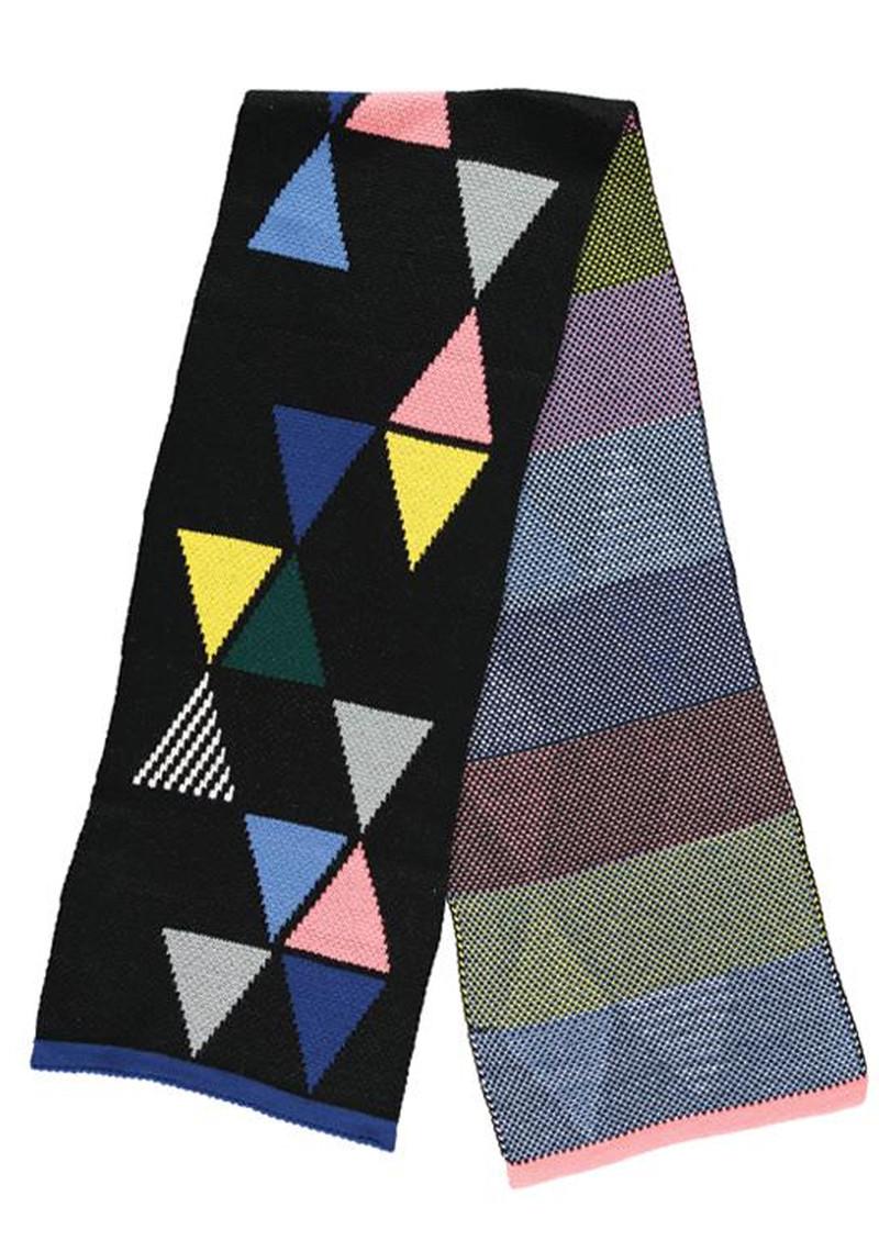 MISS POM POM Triangle Scarf - Black main image