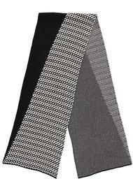 MISS POM POM Graphic Scarf - Black