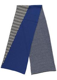 MISS POM POM Graphic Scarf - Blue