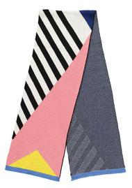 MISS POM POM Geo Stripe Scarf - Black & White