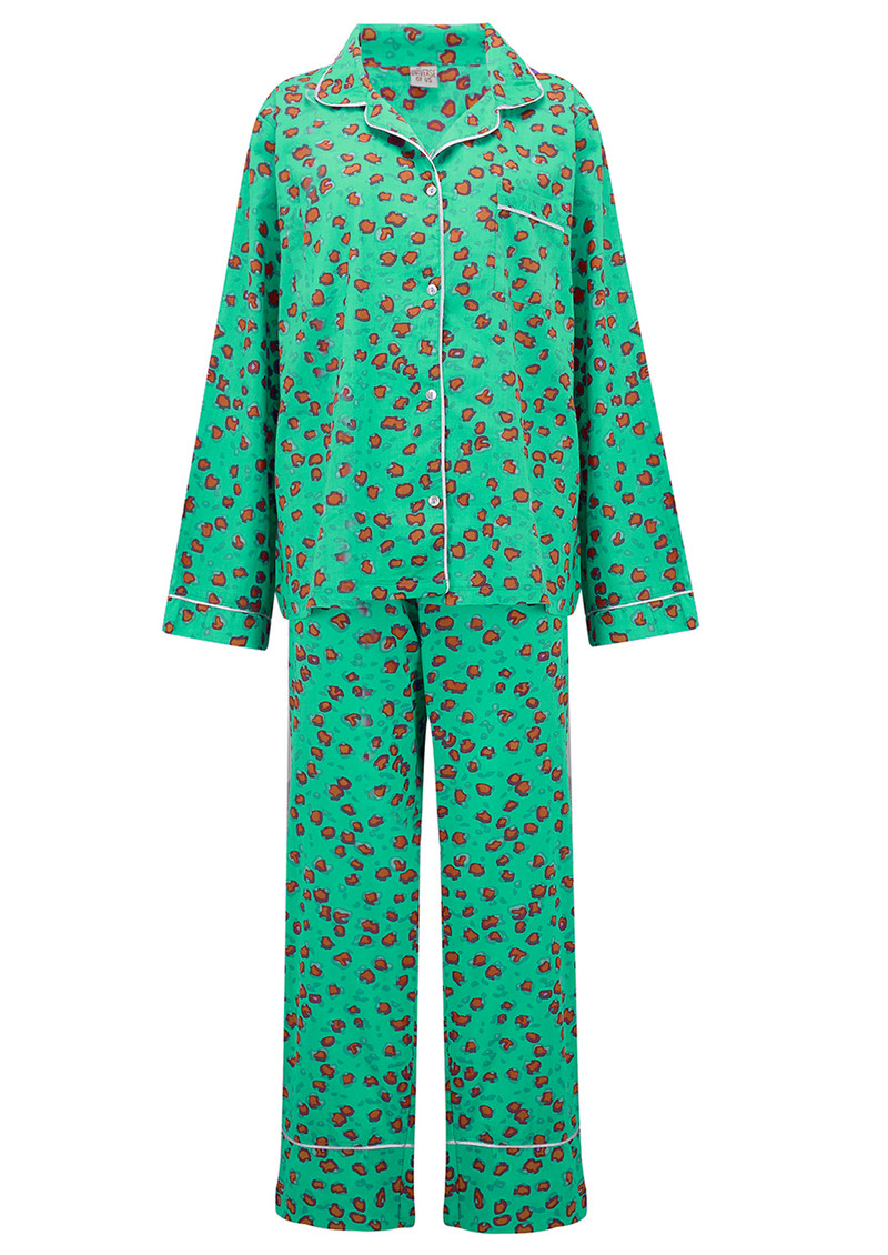 UNIVERSE OF US Leopard Pyjama Set - Emerald Green main image