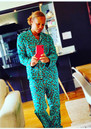 UNIVERSE OF US Leopard Pyjama Set - Emerald Green