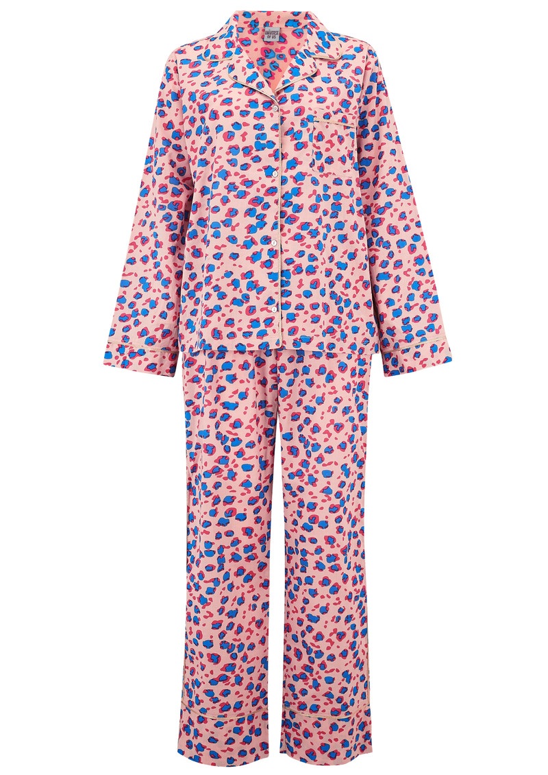 UNIVERSE OF US Leopard Pyjama Set - Rose main image