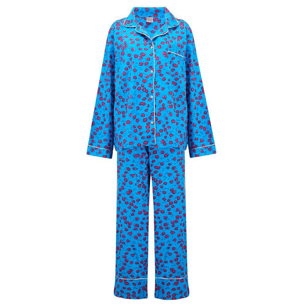 Leopard Pyjama Set - Blue