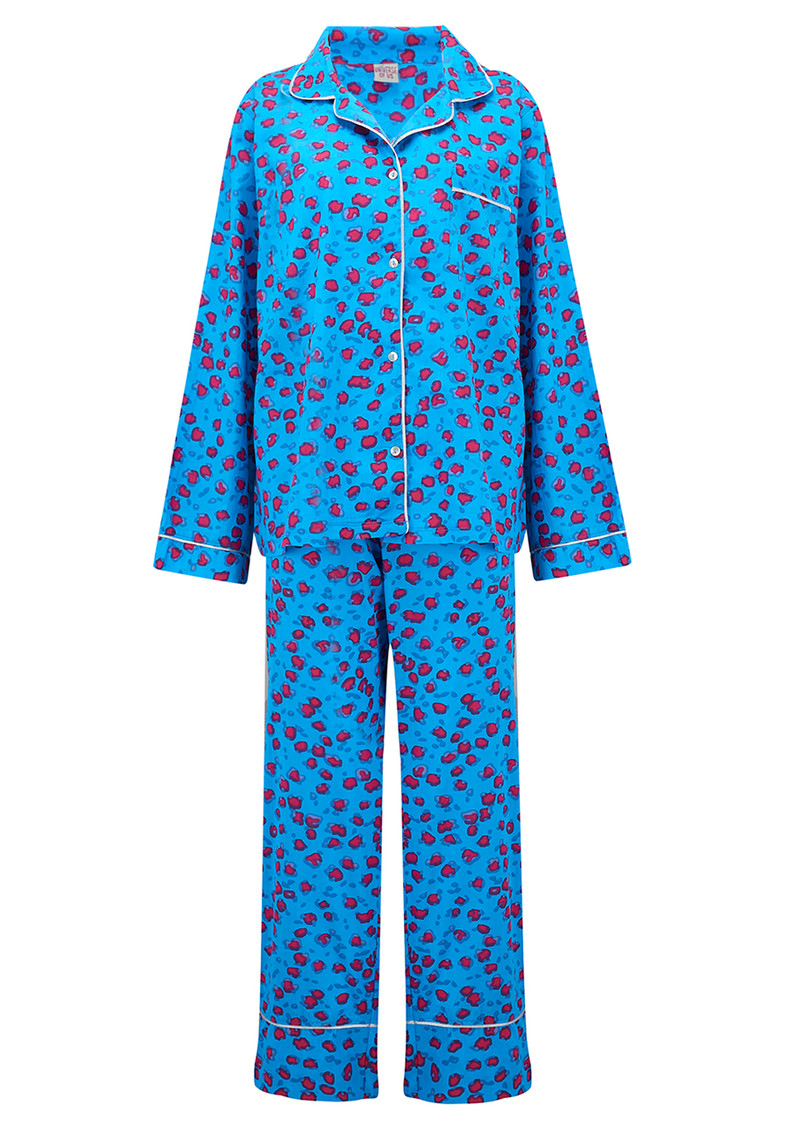 UNIVERSE OF US Leopard Pyjama Set - Blue main image