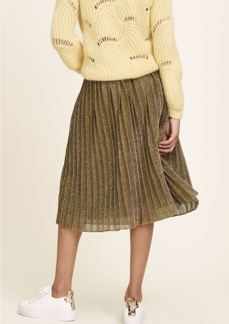 SAMSOE & SAMSOE Malvina Pleated Skirt - Gold main image