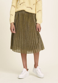 SAMSOE & SAMSOE Malvina Pleated Skirt - Gold