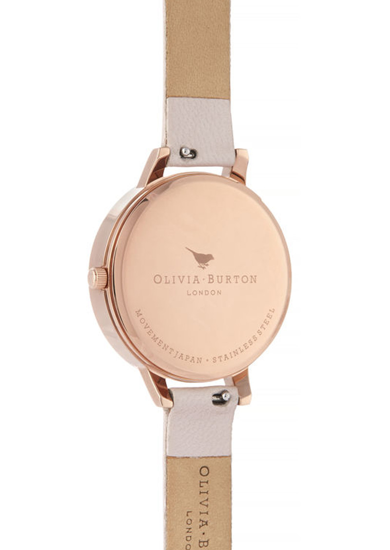 Olivia Burton Semi Precious Demi Dial Watch - Rose Quartz & Rose Gold main image