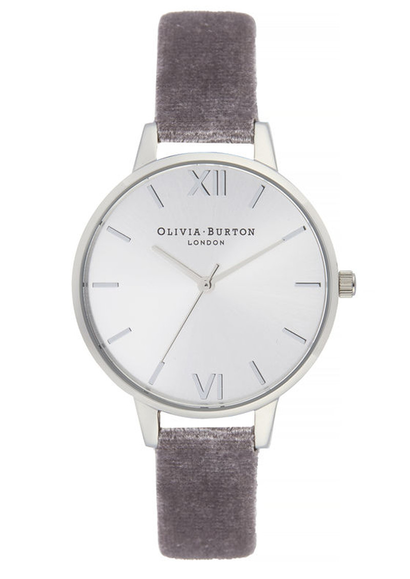 566f58d15 Olivia Burton Sunray Demi Dial Watch - Lilac Velvet & Silver main image ...