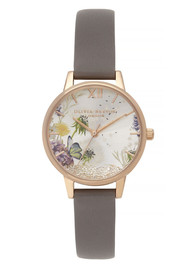 Olivia Burton Wishing Watch Midi Dial Watch - London Grey & Rose Gold