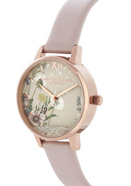 Olivia Burton Vegan Friendly Wishing Watch Midi Dial Watch - Rose Sand & Rose Gold