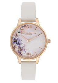 Olivia Burton Watercolour Florals Midi Dial Watch - Blush & Rose Gold