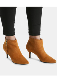 SHOE THE BEAR Agnete Gold Suede Ankle Boot - Oak