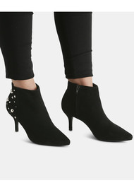 SHOE THE BEAR Agnete Studded Ankle Heel Boot - Black