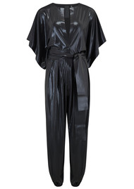 NORMA KAMALI Rectangle Lamé Jumpsuit - Black