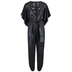 Rectangle Lamé Jumpsuit - Black