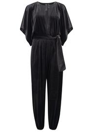 NORMA KAMALI Rectangle Velvet Jumpsuit - Black