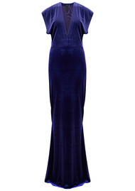 NORMA KAMALI V Neck Rectangle Velvet Dress - Purple