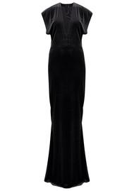 NORMA KAMALI V Neck Rectangle Velvet Dress - Black