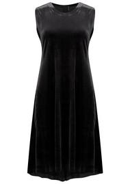 NORMA KAMALI Sleeveless Swing Velvet Dress - Black