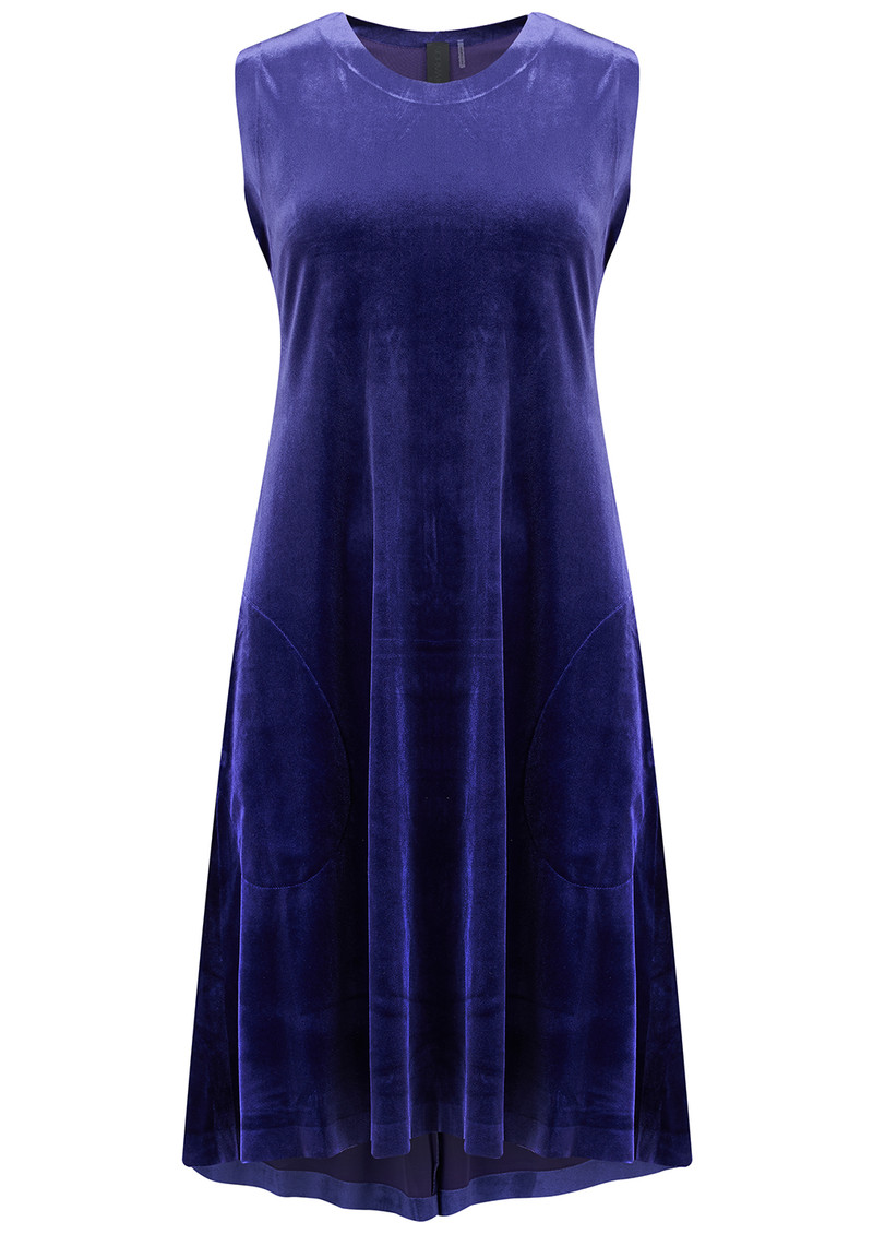 NORMA KAMALI Sleeveless Swing Velvet Dress - Purple main image