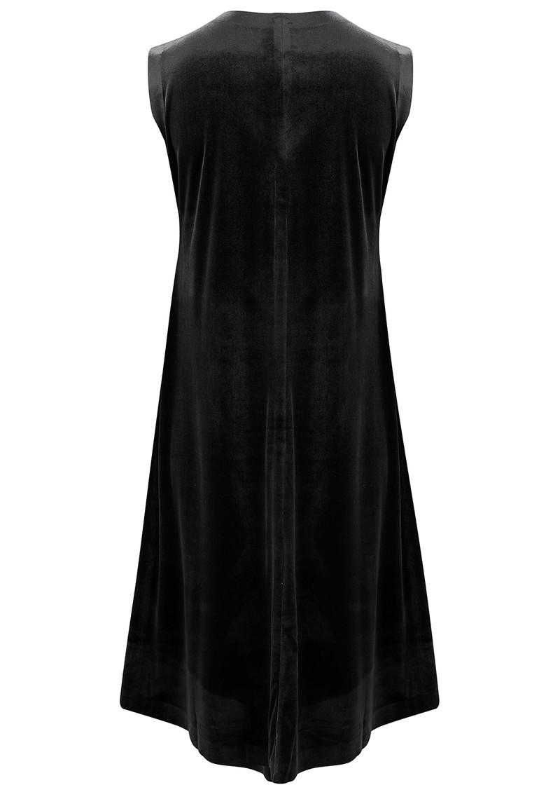 NORMA KAMALI Sleeveless Swing Velvet Dress - Black main image