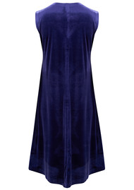 NORMA KAMALI Sleeveless Swing Velvet Dress - Purple