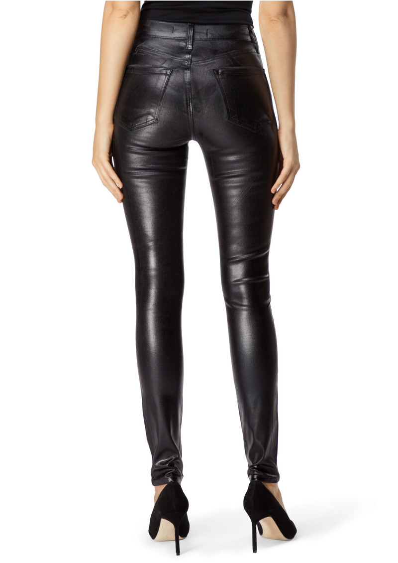 J Brand Maria High Rise Coated Skinny Jeans - Galactic Black main image