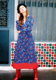 IDANO Cerise Dress - Blue