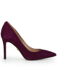 Sam Edelman Hazel Leather Heels - Raspberry Wine