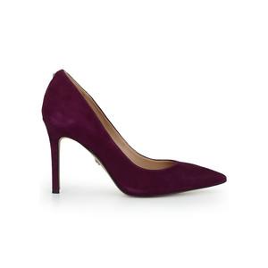 Hazel Leather Heels - Raspberry Wine