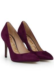 Sam Edelman Hazel Leather Heels - Raspberry Wine