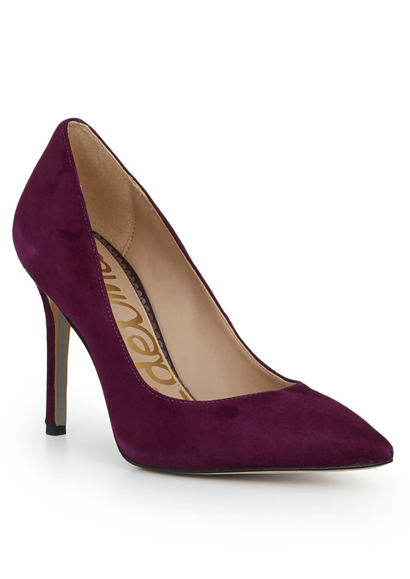 Sam Edelman Hazel Leather Heels - Raspberry Wine main image