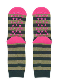 UNIVERSE OF US Slipper Socks - Stripe Winter Moss