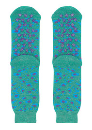 UNIVERSE OF US Slipper Socks - Leo Emerald